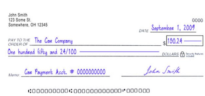 """A written check to """"cash"""" can be somehow risky because it is converted easily to cash by someone holding it"""