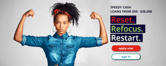 SpeedyCash can offer a wide range of loan amounts from $100 and up to $15,000 when you need a financial boost